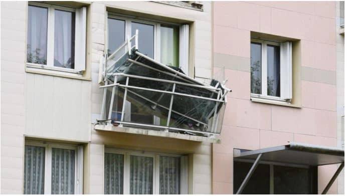 inspection balcon sinistre