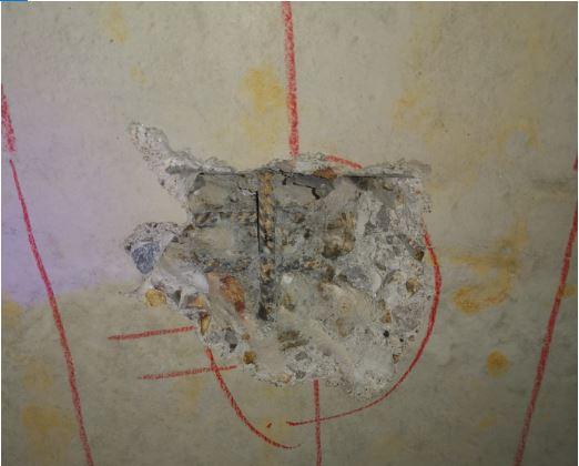 Sondage destructif sur une poutre